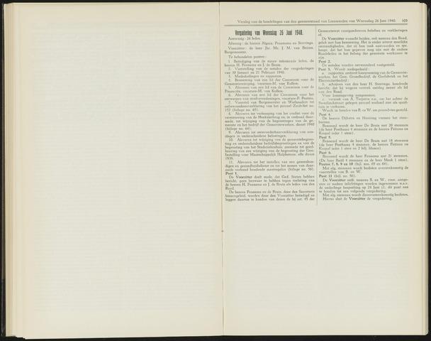 Raadsverslagen van de gemeente Leeuwarden, 1865-2007 (Notulen) 1940-06-26