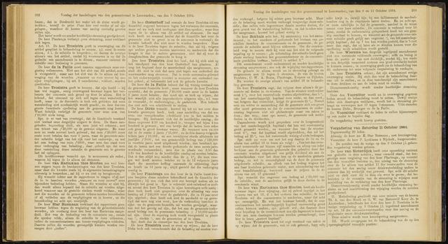 Raadsverslagen van de gemeente Leeuwarden, 1865-2007 (Notulen) 1884-10-11