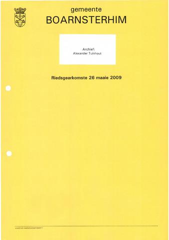 Boarnsterhim vergaderstukken gemeenteraad  2009-05-26