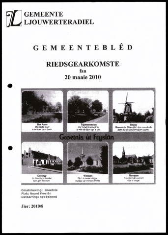 Notulen van de gemeenteraad van Leeuwarderadeel 2010-05-20