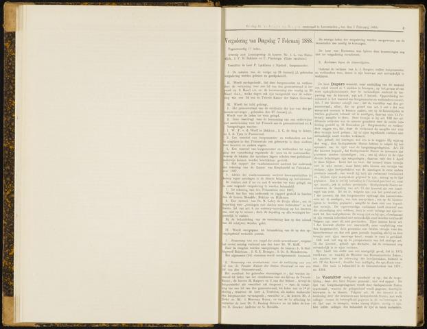 Raadsverslagen van de gemeente Leeuwarden, 1865-2007 (Notulen) 1888-02-07