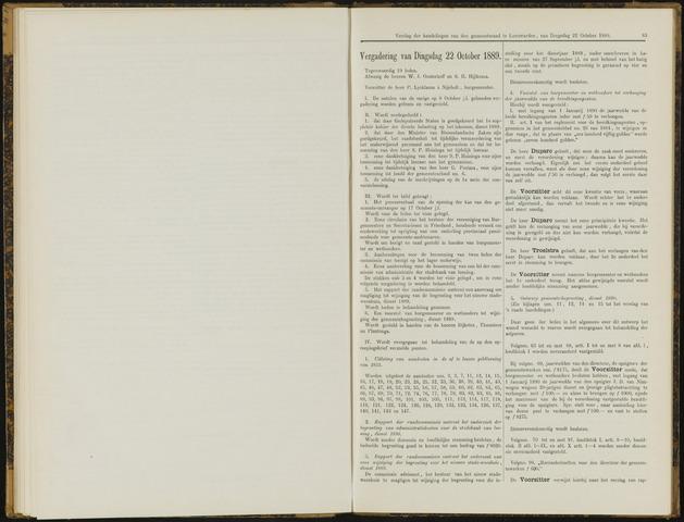 Raadsverslagen van de gemeente Leeuwarden, 1865-2007 (Notulen) 1889-10-22