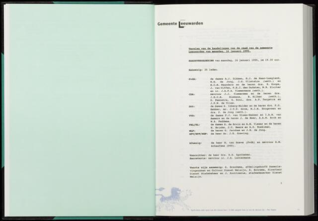 Raadsverslagen van de gemeente Leeuwarden, 1865-2007 (Notulen) 1995