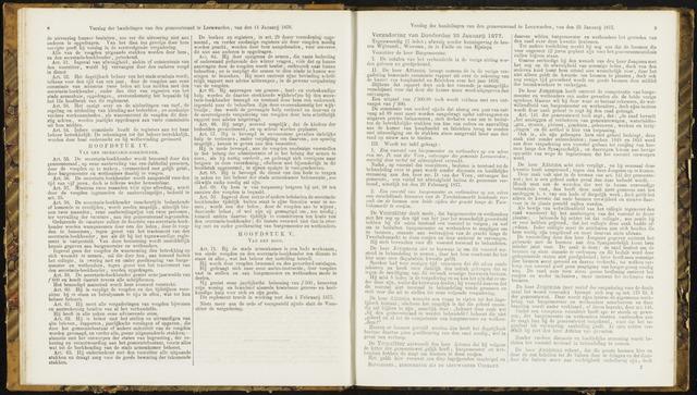 Raadsverslagen van de gemeente Leeuwarden, 1865-2007 (Notulen) 1877-01-25