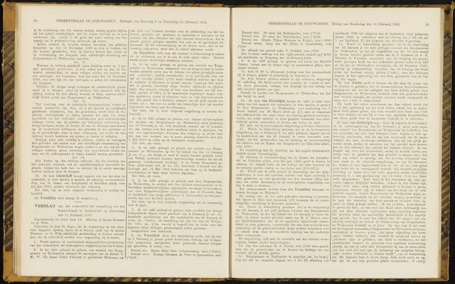 Raadsverslagen van de gemeente Leeuwarden, 1865-2007 (Notulen) 1869-02-11