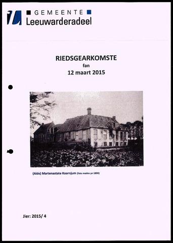 Notulen van de gemeenteraad van Leeuwarderadeel 2015-03-12