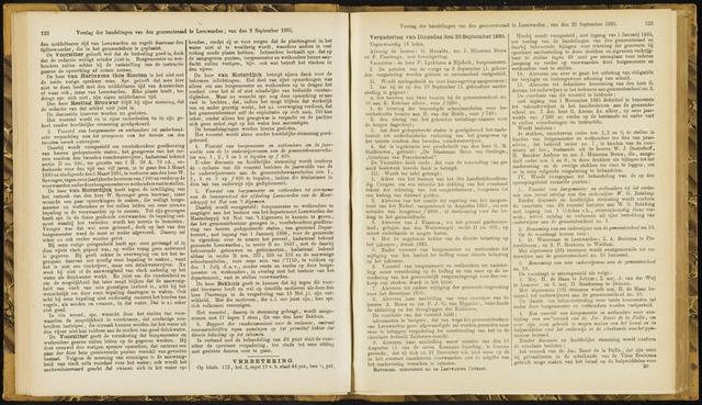 Raadsverslagen van de gemeente Leeuwarden, 1865-2007 (Notulen) 1885-09-22
