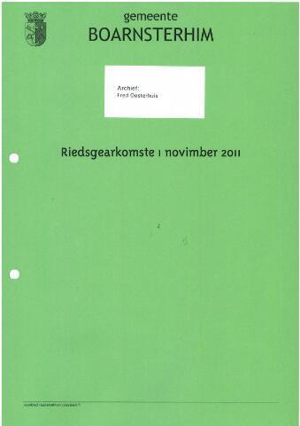 Boarnsterhim vergaderstukken gemeenteraad  2011-11-01