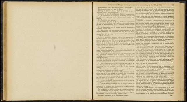 Raadsverslagen van de gemeente Leeuwarden, 1865-2007 (Notulen) 1884-07-03