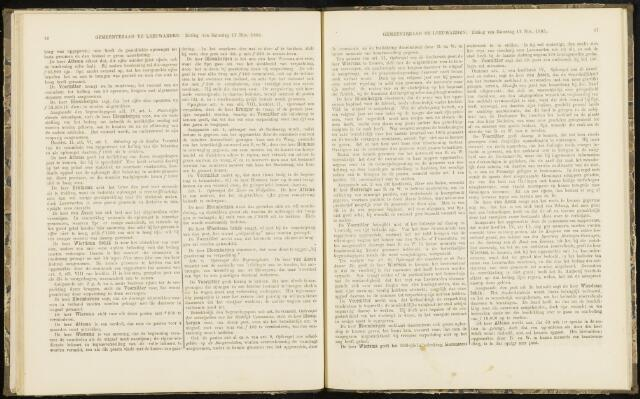 Raadsverslagen van de gemeente Leeuwarden, 1865-2007 (Notulen) 1865-11-11