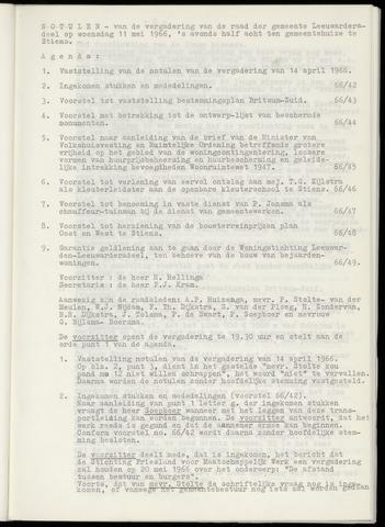 Notulen van de gemeenteraad van Leeuwarderadeel 1966-05-11