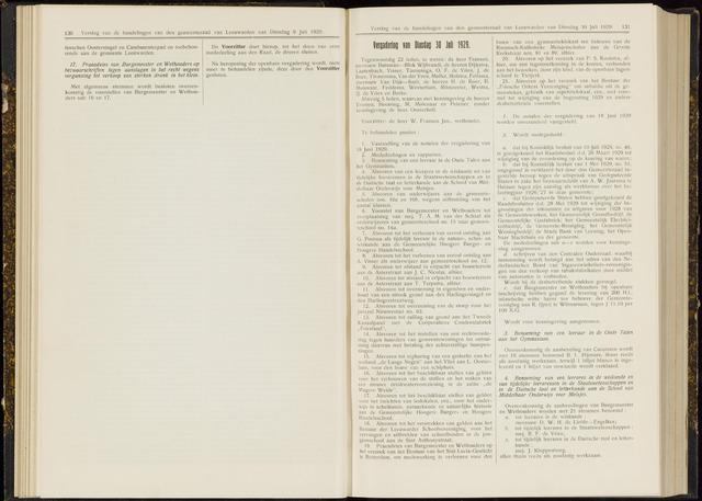 Raadsverslagen van de gemeente Leeuwarden, 1865-2007 (Notulen) 1929-07-30