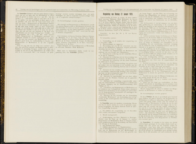Raadsverslagen van de gemeente Leeuwarden, 1865-2007 (Notulen) 1929-01-22