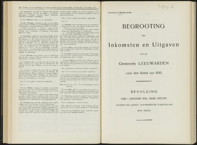 Raadsverslagen van de gemeente Leeuwarden, 1865-2007 (Bijlagen) 1935-01-01