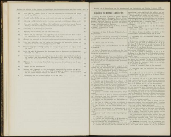 Raadsverslagen van de gemeente Leeuwarden, 1865-2007 (Notulen) 1907