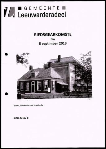 Notulen van de gemeenteraad van Leeuwarderadeel 2013-09-05