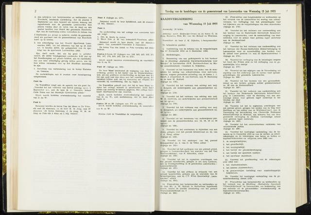 Raadsverslagen van de gemeente Leeuwarden, 1865-2007 (Notulen) 1955-07-13