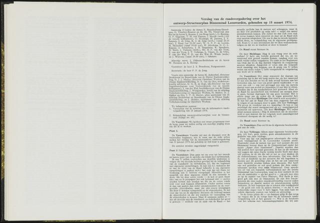 Raadsverslagen van de gemeente Leeuwarden, 1865-2007 (Notulen) 1974-03-18