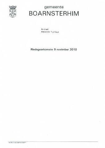 Boarnsterhim vergaderstukken gemeenteraad  2010-11-09
