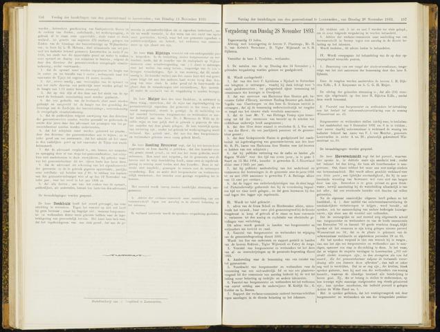 Raadsverslagen van de gemeente Leeuwarden, 1865-2007 (Notulen) 1893-11-28