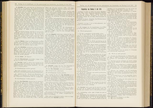 Raadsverslagen van de gemeente Leeuwarden, 1865-2007 (Notulen) 1919-07-08