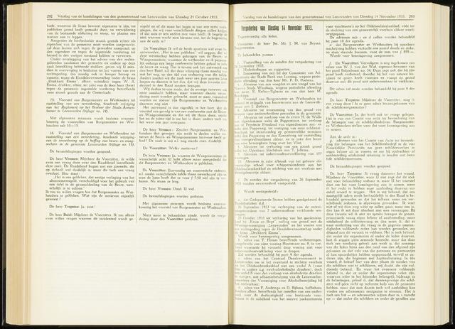 Raadsverslagen van de gemeente Leeuwarden, 1865-2007 (Notulen) 1933-11-14