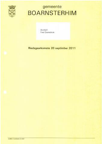 Boarnsterhim vergaderstukken gemeenteraad  2011-09-20
