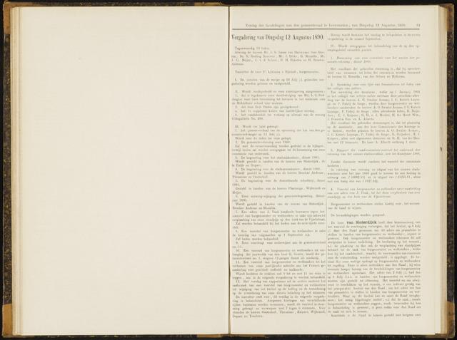 Raadsverslagen van de gemeente Leeuwarden, 1865-2007 (Notulen) 1890-08-12