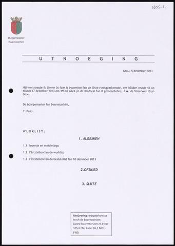 Boarnsterhim vergaderstukken gemeenteraad  2013-12-17