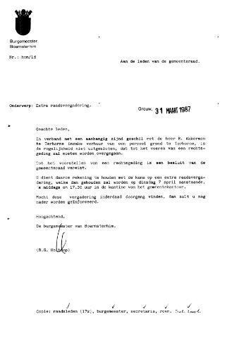 Boarnsterhim vergaderstukken gemeenteraad  1987-04-07