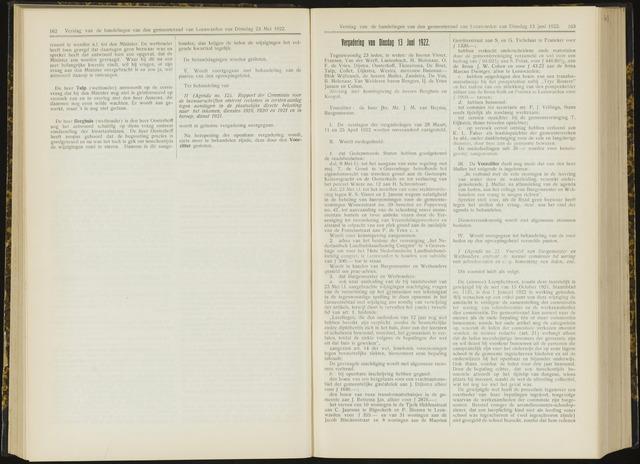Raadsverslagen van de gemeente Leeuwarden, 1865-2007 (Notulen) 1922-06-13