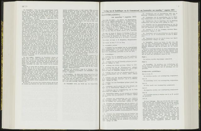Raadsverslagen van de gemeente Leeuwarden, 1865-2007 (Notulen) 1972-08-07