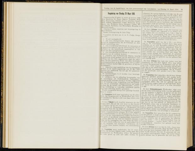 Raadsverslagen van de gemeente Leeuwarden, 1865-2007 (Notulen) 1918-03-26