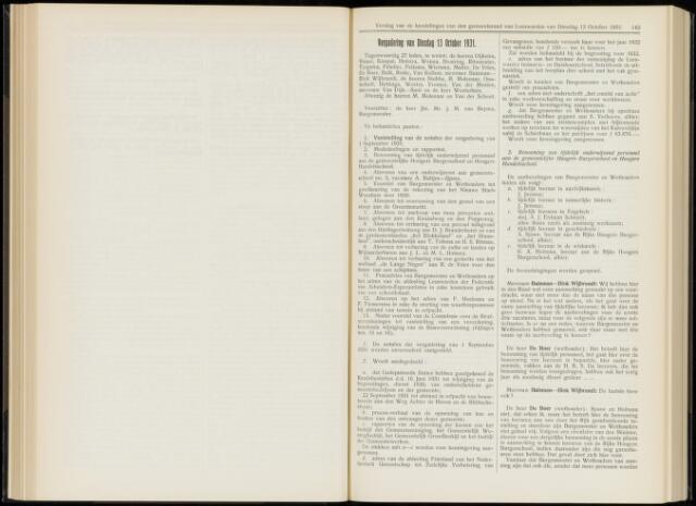 Raadsverslagen van de gemeente Leeuwarden, 1865-2007 (Notulen) 1931-10-13