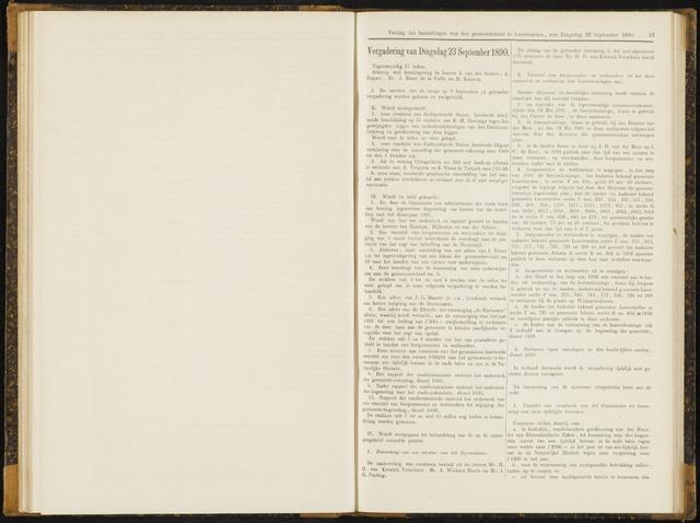 Raadsverslagen van de gemeente Leeuwarden, 1865-2007 (Notulen) 1890-09-23