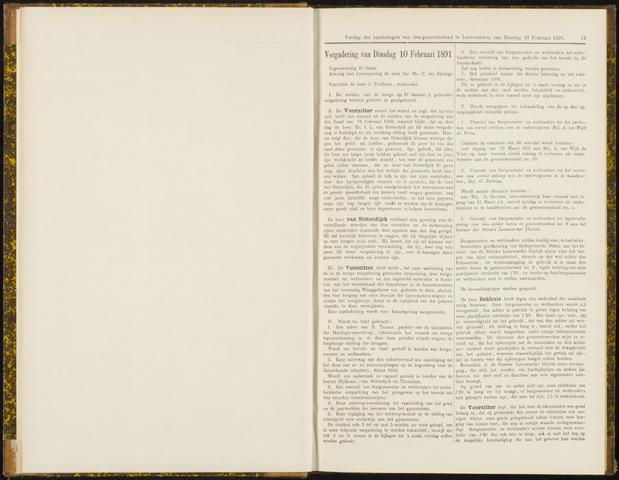 Raadsverslagen van de gemeente Leeuwarden, 1865-2007 (Notulen) 1891-02-10