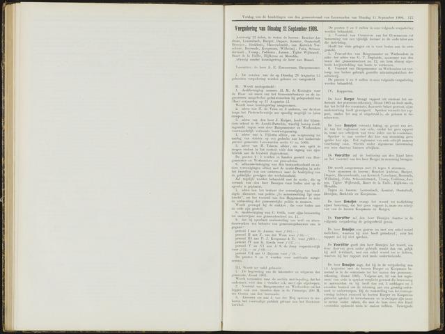 Raadsverslagen van de gemeente Leeuwarden, 1865-2007 (Notulen) 1906-09-11