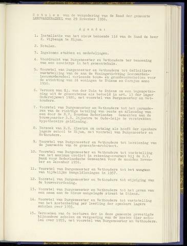 Notulen van de gemeenteraad van Leeuwarderadeel 1956-11-29