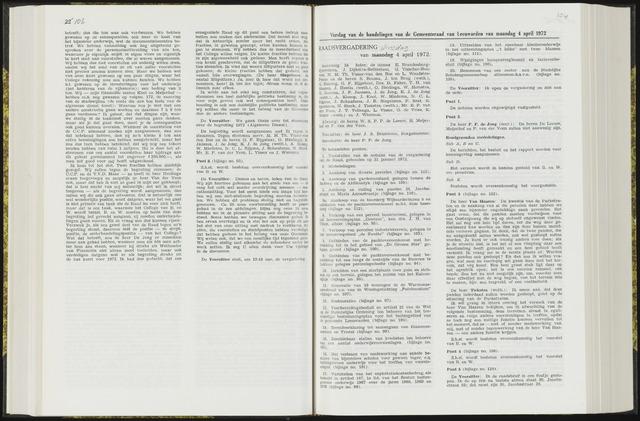 Raadsverslagen van de gemeente Leeuwarden, 1865-2007 (Notulen) 1972-04-04