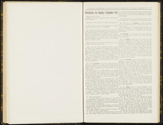 Raadsverslagen van de gemeente Leeuwarden, 1865-2007 (Notulen) 1899-09-05