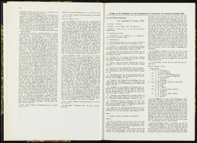 Raadsverslagen van de gemeente Leeuwarden, 1865-2007 (Notulen) 1963-01-23