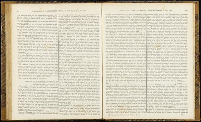 Raadsverslagen van de gemeente Leeuwarden, 1865-2007 (Notulen) 1866-11-15