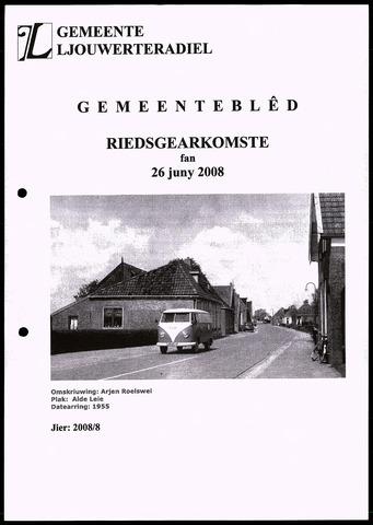 Notulen van de gemeenteraad van Leeuwarderadeel 2008-06-26