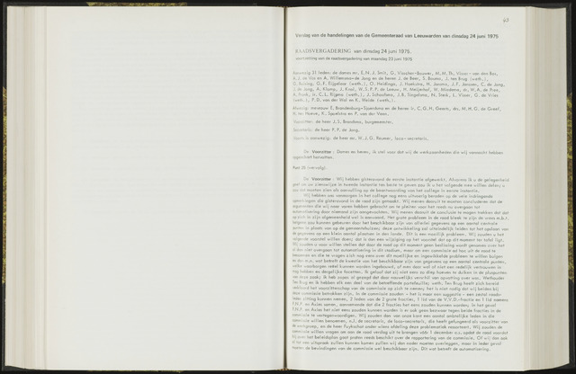 Raadsverslagen van de gemeente Leeuwarden, 1865-2007 (Notulen) 1975-06-24