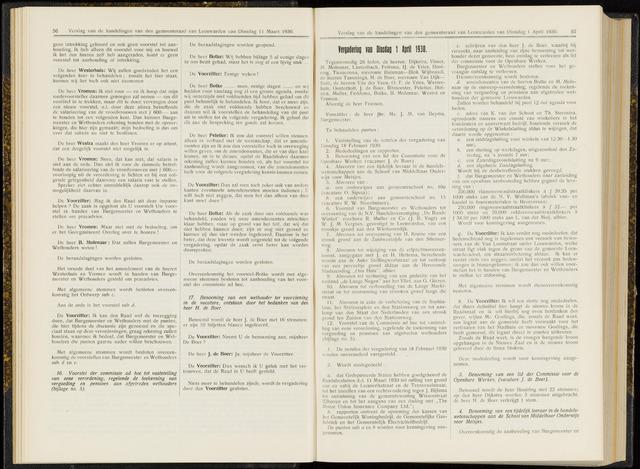 Raadsverslagen van de gemeente Leeuwarden, 1865-2007 (Notulen) 1930-04-01