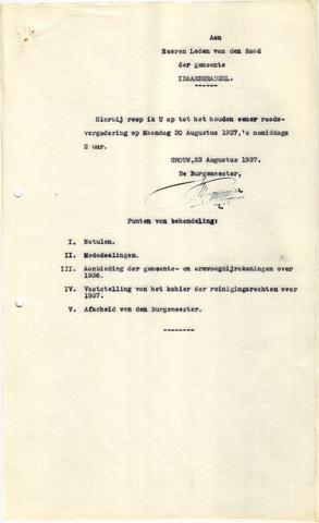 raadsverslagen Idaarderadeel 1935-1983 1937-08-30