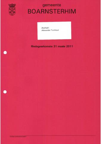 Boarnsterhim vergaderstukken gemeenteraad  2011-05-31