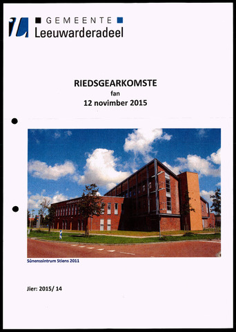 Notulen van de gemeenteraad van Leeuwarderadeel 2015-11-12