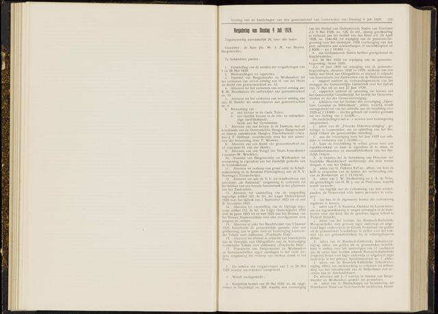 Raadsverslagen van de gemeente Leeuwarden, 1865-2007 (Notulen) 1929-07-09