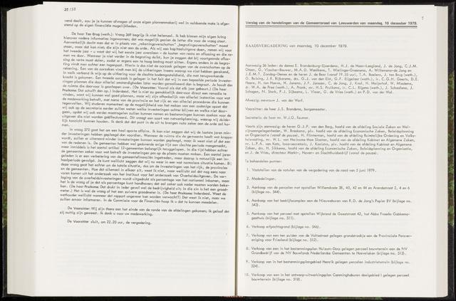 Raadsverslagen van de gemeente Leeuwarden, 1865-2007 (Notulen) 1979-12-10